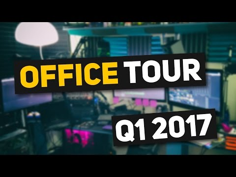 HOW MANY SCREENS?! - YouTube Office Tour & Streaming Setup!