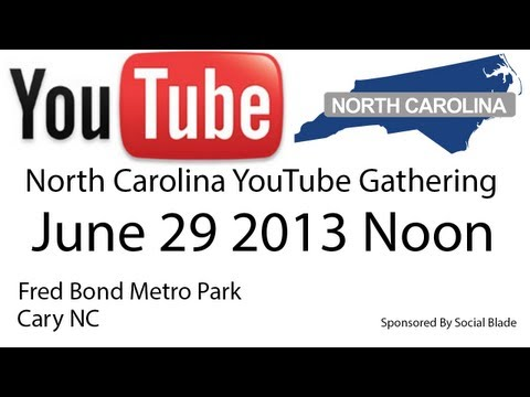 North Carolina YouTube Gathering June 29 2013 - Fred Bond Metro Park Cary NC