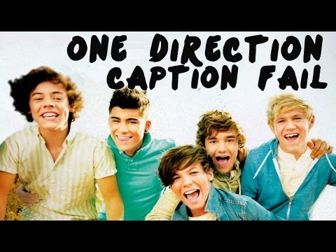 One Direction Caption Fail video