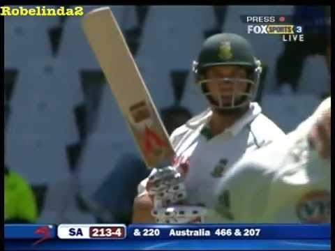 Jacques Kallis batting in test cricket.