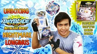 Nightmare Longinus .Ds Starter (B-97) & LIMITED EDITION Beyblade God Battle Set Unboxing & Review