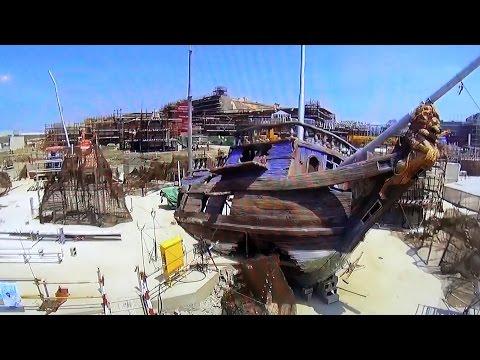 Shanghai Disneyland Treasure Cove, Pirates of the Caribbean Detail & Exterior Construction, D23 Expo
