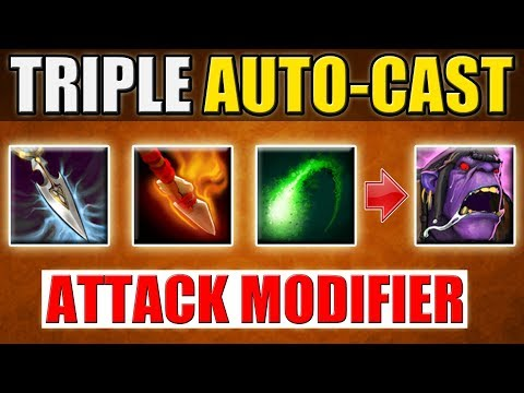 Triple Auto-Cast Ability Build [Full Attack Modifier Windranger] Dota 2 Ability Draft