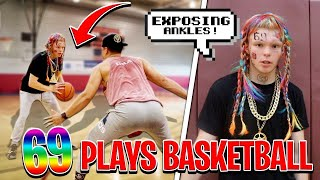 Tekashi 69 Plays Basketball At LA Fitness!