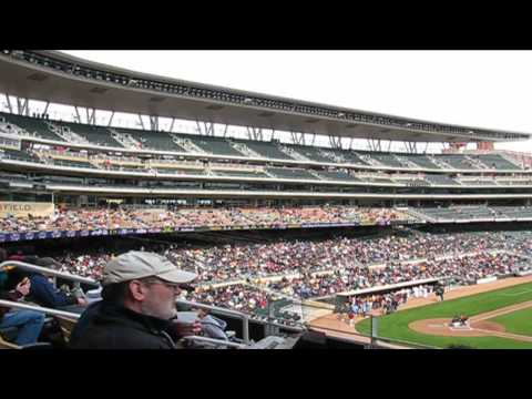 Target Field: First Game at Minnesota Twins Ballpark in Minneapolis, Minnesota (Gopher Baseball) Video