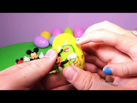 MICKEY MOUSE CLUBHOUSE Disney Junior Mickey Mouse Surprise Eggs a Disney Surprise Egg Candy Video