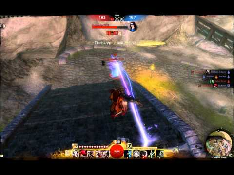 Guild Wars 2 Beta 1 - Thief PvP - Mobility/Burst Combination