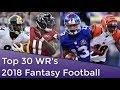 Top 30 WR Rankings PPR 2018 Fantasy Football mp3