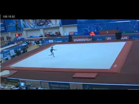Anastasia Grishina - Floor, Day 2, Russian Championships, 22.03.2012