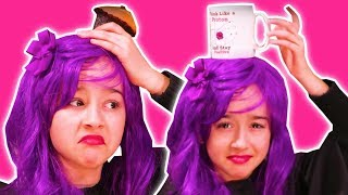 Malice Loses Her Crown | Hat Pranks with Chocolate Cakes - Princesses In Real Life | Kiddyzuzaa