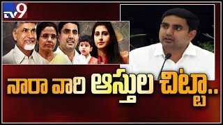 Nara Lokesh declares assets of Chandrababu Naidu and family