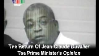 Duvalier In Haiti - Prime Minister Jean-max Bellerive Comments