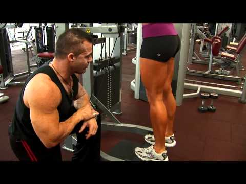 Ladies Standing Calf Raise Exercise Image 1
