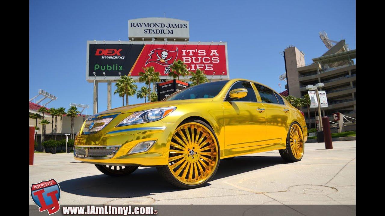 Gold Chrome Wrap Gold Chrome Wrapped Hyundai