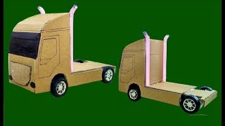 How To Make Cardboard Truck Easy - DIY Cardboard Projects For Kids