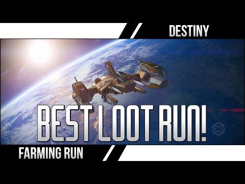 DESTINY BEST LOOT RUN! (Destiny Chest Farming Legendary Ship Blueprints Spinmetal Run)