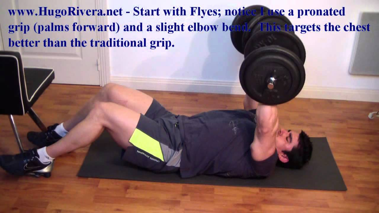 Chest workout min home routine youtube