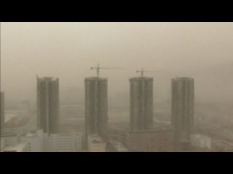 Dust Storms Hit North West China