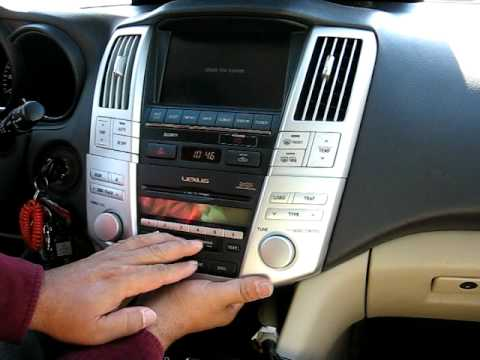 How to remove Radio / CD Changer / Navigation from 2005 Lexus RX400 2005 for Repair.