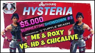 Hysteria | Fortnite Battle Royale - $5,000 Summer Showdown Tourney vs. High Distortion & ChicaLive