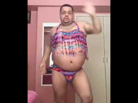 Gordo bailando Work Rihanna ft Drake