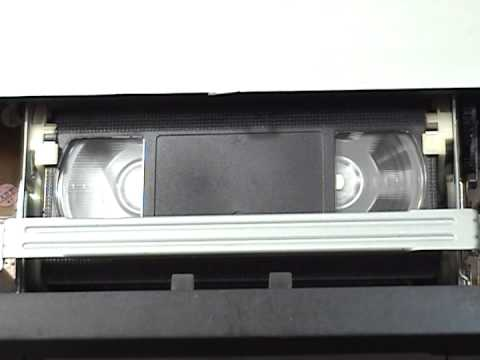 Sony SLV N51 VHS VCR fast-forward/rewind cycle of a T-160 VHS cassette