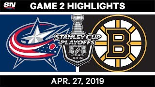 NHL Highlights | Blue Jackets vs. Bruins, Game 2 - April 27, 2019