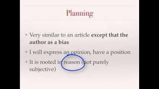 Writing an editorial (persuasive writing) - French VCE text types