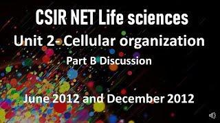 CSIR NET Life Sciences- UNIT 2 part B II 2012