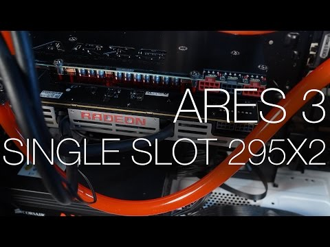 ASUS ROG Ares III Custom Dual R9 290X Watercooled Graphics Card Unboxing and Showcase