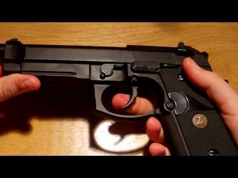 WE M9 Pistol Updated review Airsoft Gas Blow Back
