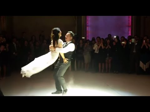 "Most romantic first dance ever to ""Don't stop believing"""