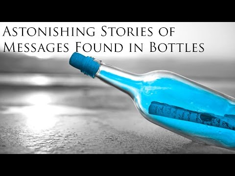 a story about finding a message in a bottle A museum announced the discovery of the world's oldest message in a bottle on tuesday, located on the coast of australia unfortunately, those looking for tales of long-lost loves or lives once lived will be rather disappointed.