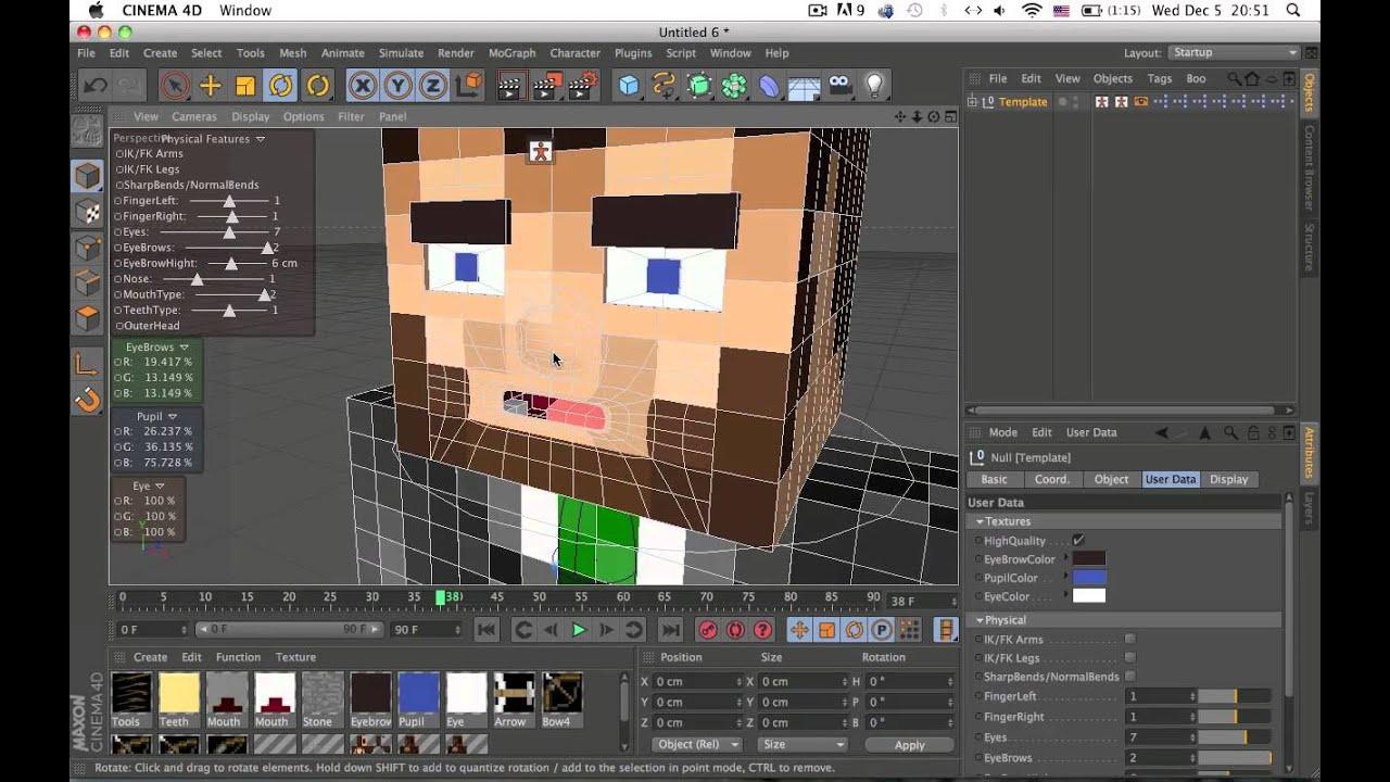 Cinema 4d Minecraft Rig