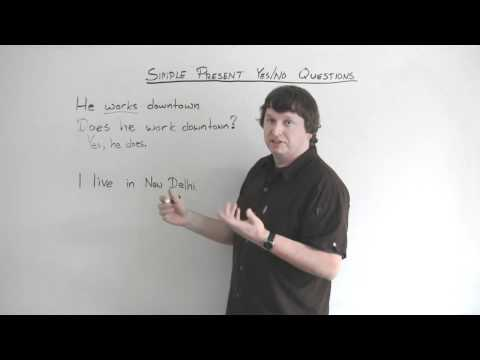 English Grammar – Present Simple – YES/NO QUESTIONS