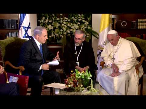 PM Netanyahu and Pope Francis' meeting at Notre Dame