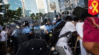 Hong Kong protests: Police unleash tear gas on pro-democracy protests