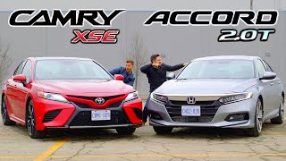 2019 Toyota Camry XSE vs Honda Accord 2.0 Touring // Battle For Best Mid-Size Sedan