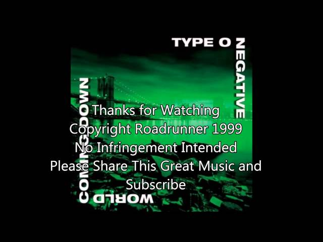 Type O Negative - World Coming Down (1999) Full Album