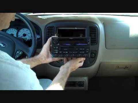 Car stereo deck with aux input