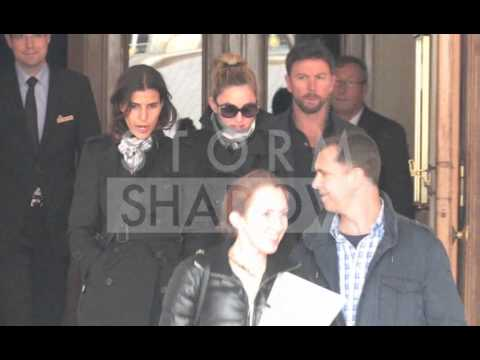 Madonna and Mercy leaving the Ritz Hotel in Paris
