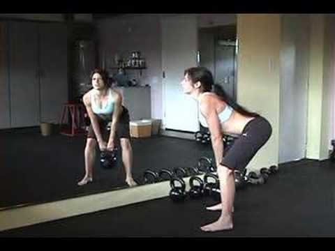 Kettlebell Deadlift (step one in learning kettlebell swing) Image 1