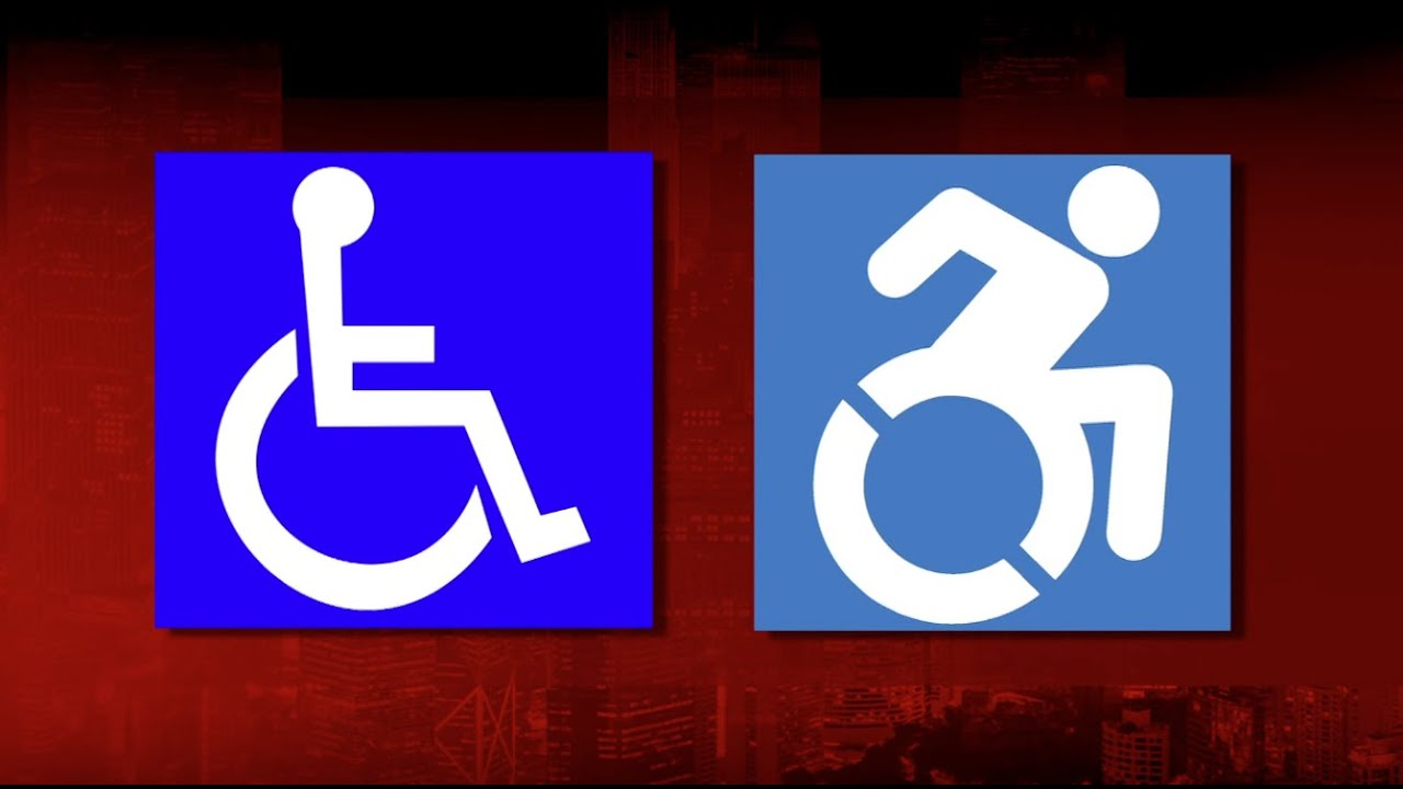 Street art inspires redesign of accessibility icon - YouTube Handicap Logo Redesign