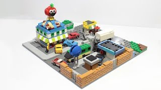 Building Tomato Town from Fortnite in Lego