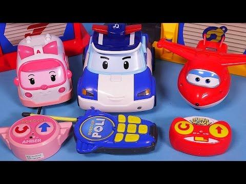 Robocar Poli Super wings RC car toys - 로보카폴리 슈퍼윙스 무선조종 장난감
