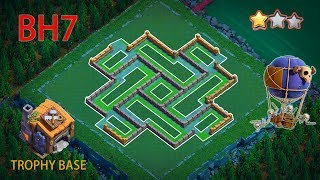 NEW Best! Builder Hall 7 Base 2020 Design With Copy Link | BH7 Base Anti 2&3 Star Trophy Base | COC