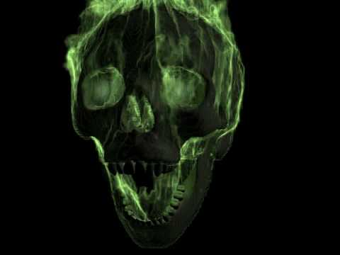3d studio max - Flaming skull Video