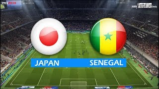 PES 2018 | JAPAN vs SENEGAL | Full Match & Amazing Goals | Gameplay PC