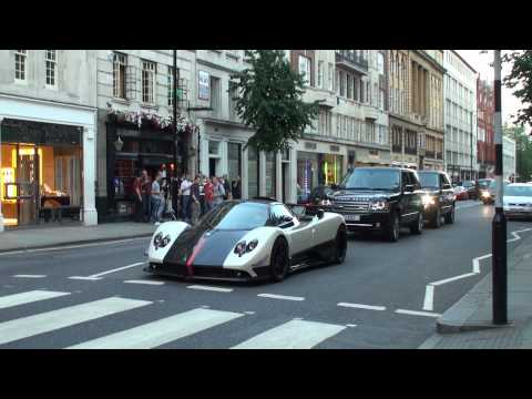 Pagani Zonda Cinque Roadster - Furious Revs, Hard acceleration!! Little DRIFT!