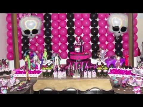 Minha Festa de Aniversario Monstruosa - Monster High Ferias em Scaris Julia Silva